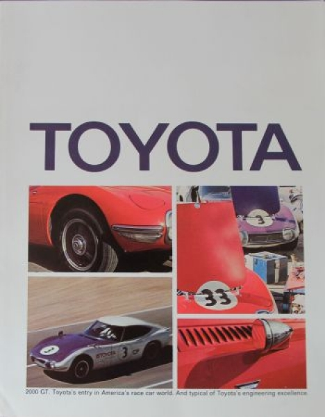 Toyota Modellprogramm 1969 Automobilprospekt