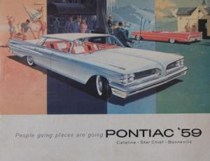 "Pontiac Modellprogramm ""People going place are going"" 1959 Automobilprospekt"
