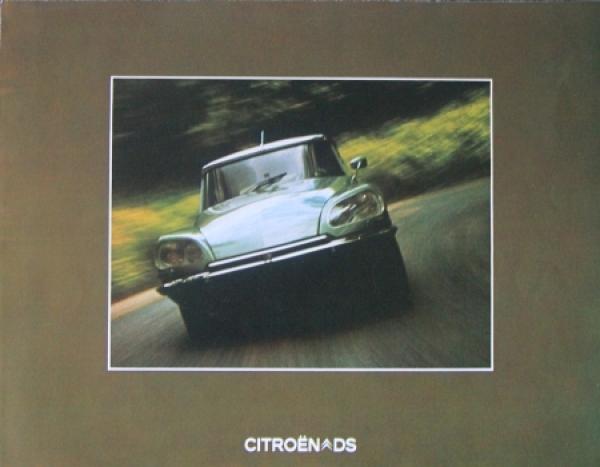 Citroen DS Modellprogramm 1973 Automobilprospekt 0
