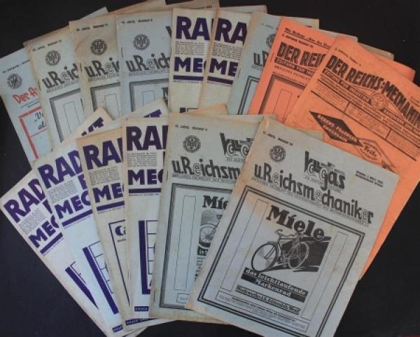 """""""Der Reichs-Mechaniker"""" Fachzeitschrift für Industrie und Handel 16 Ausgaben 1923-1933"""