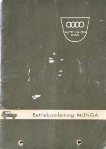 DKW Munga Auto-Union Geländewagen 1963 Betriebsanleitung