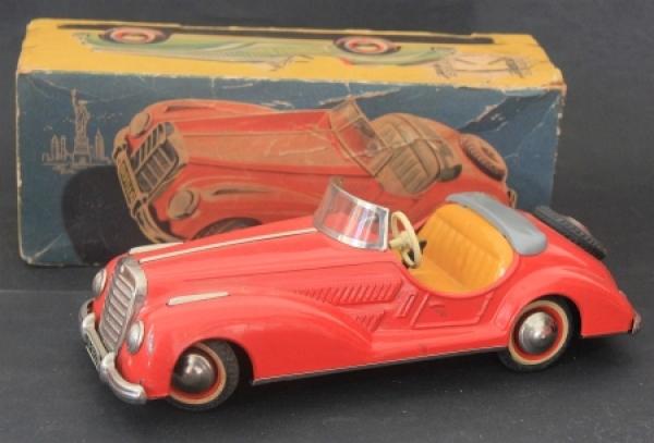 Distler Mercedes Cabriolet 1956 Blechmodell im Original Karton
