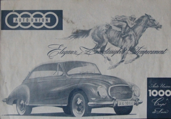 Auto-Union 1000 Coupe de Luxe 1964 Automobilprospekt