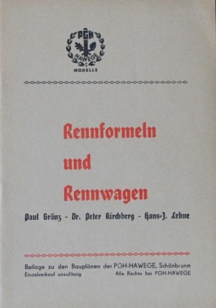 """Gränz """"Rennformel und Rennwagen"""" Motorsport-Technik 1955"""