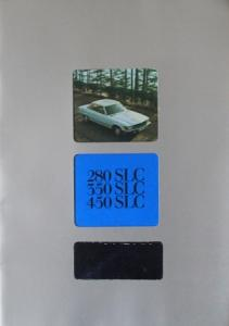 Mercedes-Benz 280 SLC - 450 SLC 1977 Automobilprospekt