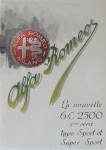 Alfa Romeo 6 C 2500 Super Sport Modellprogramm 1950 Automobilprospekt