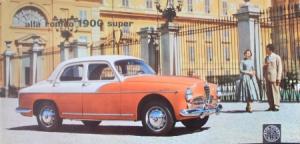 Alfa Romeo 1900 Super 1957 Automobilprospekt