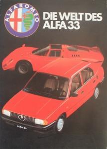 "Alfa Romeo ""Die Welt des Alfa 33"" 1983 Automobilprospekt"