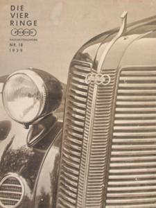 """Auto-Union """"Die Vier Ringe"""" Firmen-Magazin 1939"""