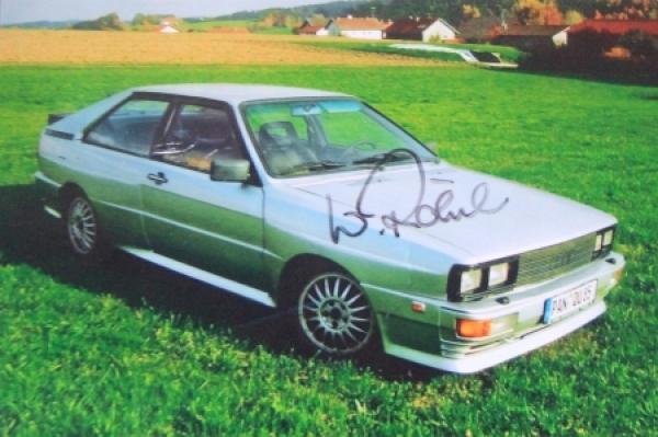 Walter Röhrl Rallyefahrer Originalautogramm 1990