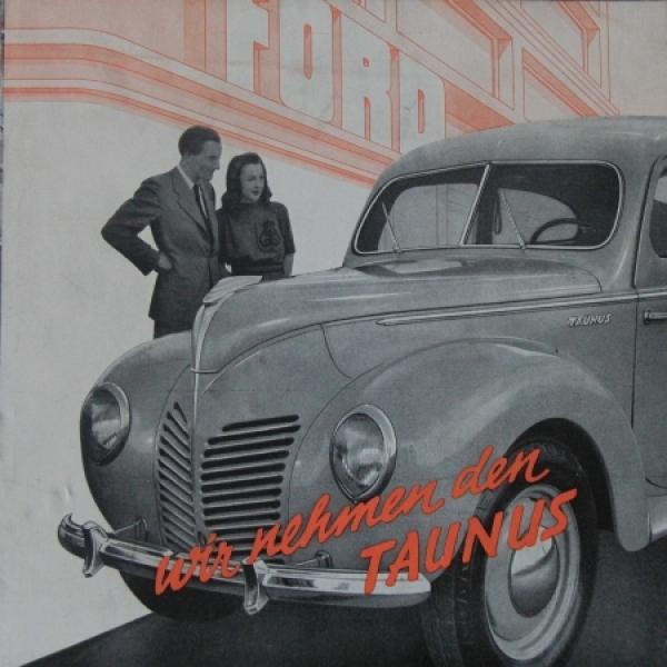 """Ford Taunus """"Wir nehmen den Taunus"""" 1939 Automobilprospekt"""