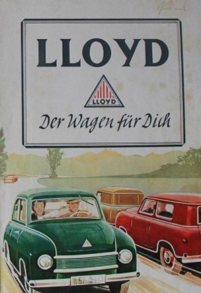 """Lloyd 300 """"Der Wagen für Dich"""" 1951 Automobilprospekt"""
