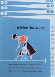 """Volkswagen Käfer """"Kleine Anleitung"""" 1957 Automobilprospekt"""