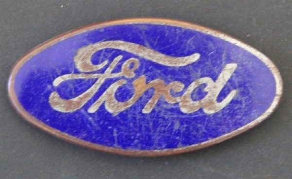Ford Model A ovales Radiator-Emblem emailliertes Metall 1930