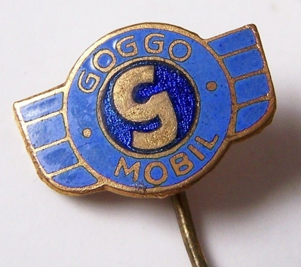 Glas Goggomobil Anstecknadel Metall emailiert 1955