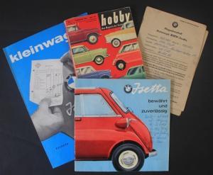 BMW Isetta Werbekonvolut 1959 Automobilprospekt