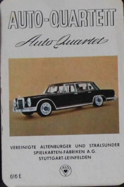 """Altenburger """"Auto-Quartett"""" 1963 Kartenspiel"""