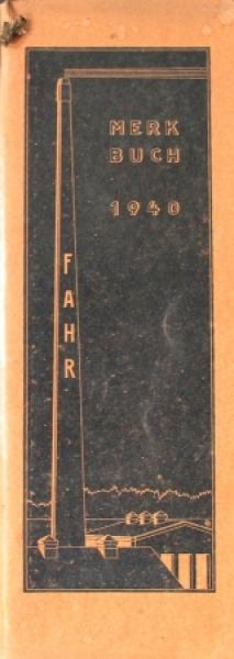 Fahr Maschinenfabrik Traktor Werbe-Kalender für 1940