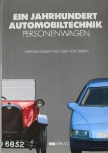 """Fersen """"Ein Jahrhundert Automobiltechnik - Personenwagen"""" Fahrzeughistorie 1986"""