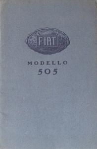 Fiat 505 Modellprogramm 1924 Automobilprospekt