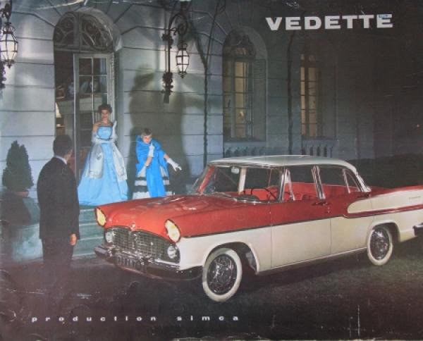Simca Vedette Modellprogramm 1959 Automobilprospekt
