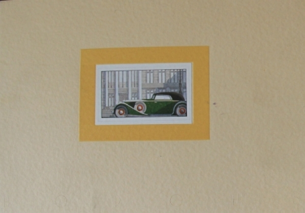 Horch 8 Modellprogramm 1935 Automobilprospekt