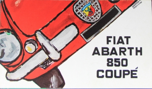 Abarth Fiat 850 Coupe 1963 Automobilprospekt
