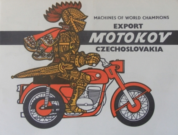 "Jawa ""Machines of World Champions"" Modellprogramm 1973 Motorradprospekt"