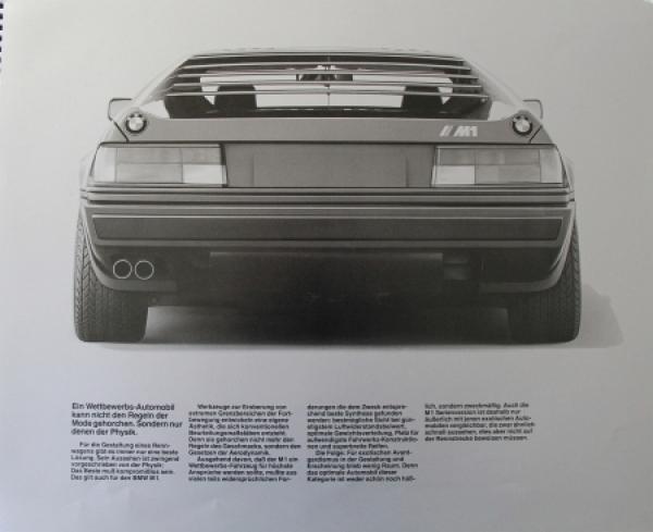 BMW M 1 Modellprogramm 1978 Automobilprospekt 2
