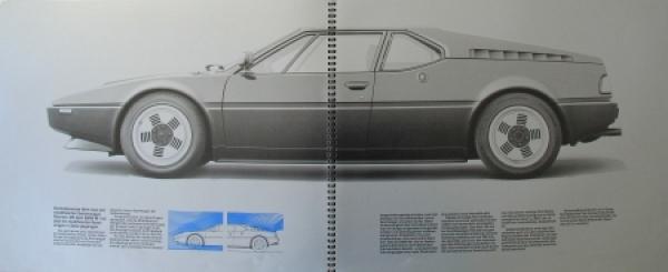 BMW M 1 Modellprogramm 1978 Automobilprospekt 3