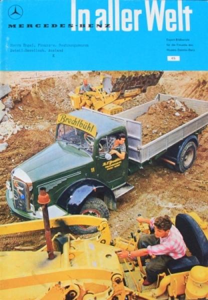 """Mercedes-Benz in aller Welt"" Firmenmagazin 1960"