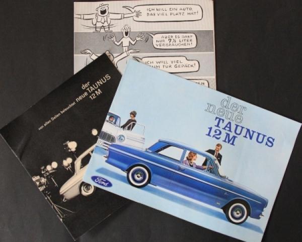 Ford Taunus Händlermappe Modellprogramm 1962 Automobilprospekt