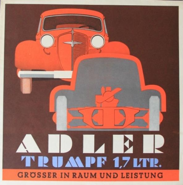 Adler Trumpf 1,7 Liter Automobilprospekt 1936
