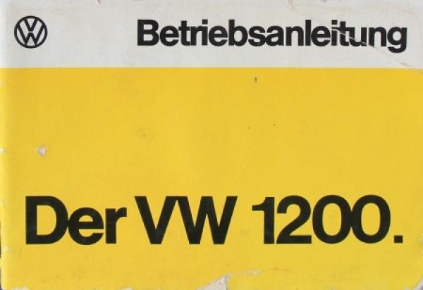 Volkswagen Käfer 1200 Betriebsanleitung 1974