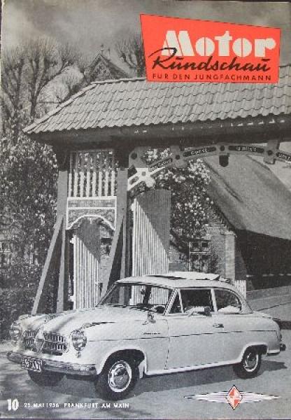 """""""Motor Rundschau - Für den Jungfachmann"""" Automobil-Zeitschrift 1956"""