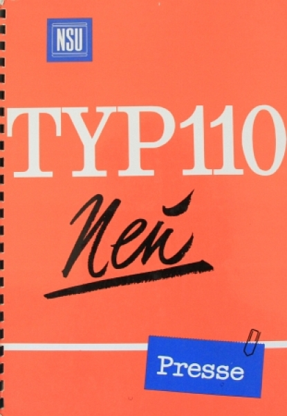 NSU Typ 110 Modellprogramm 1968 Pressemappe