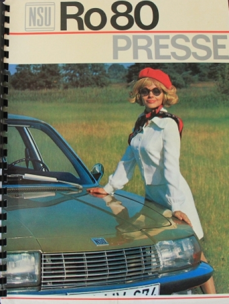 NSU RO 80 Modellprogramm 1968 Automobil-Pressemappe