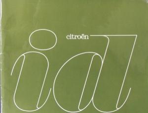 "Citroen ID ""Sicher, bequem, schnell"" 1963 Automobilprospekt"