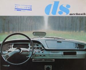 Citroen DS Mechanik 1964 Automobilprospekt