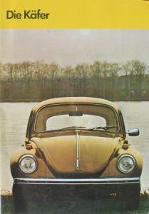 """Volkwagen """"Die Käfer"""" Modellprogramm 1970 Automobilprospekt"""