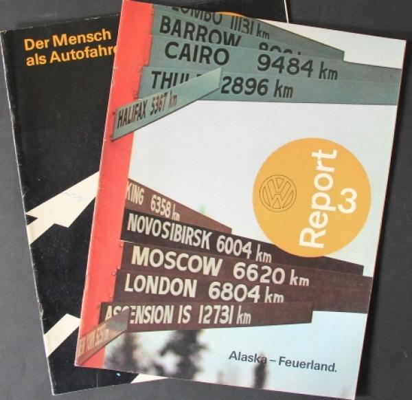 "Volkswagen ""VW Report"" Ausgaben 3/4 Firmenmagazin 1975"