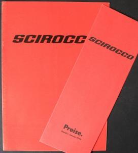 Volkswagen Scirocco Modellprogramm 1978 Automobilprospekt