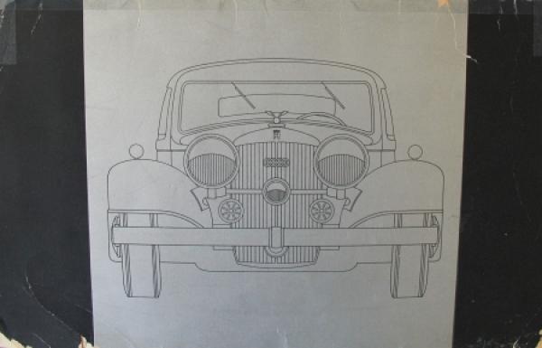 Horch 850 Modellprogramm 1936 Reuters-Motive Automobilprospekt
