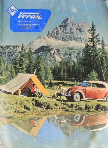 """""""BV Voran"""" Zeitschrift für Aral-Tankstellen 1957"""