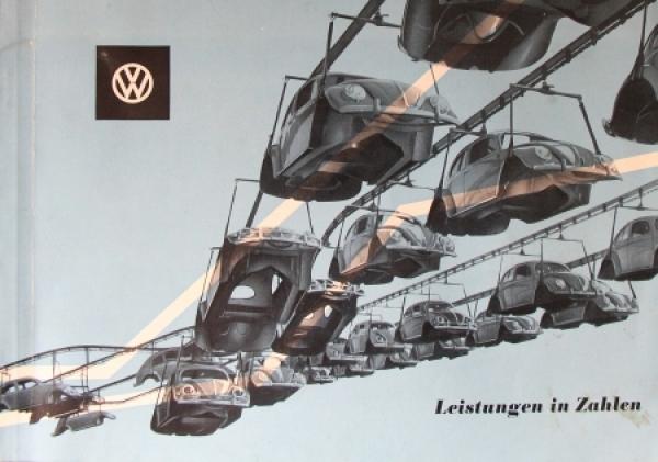"""Volkswagen """"Leistung in Zahlen - Rechenschaftsbericht"""" 1955 VW-Werk-Chronik"""