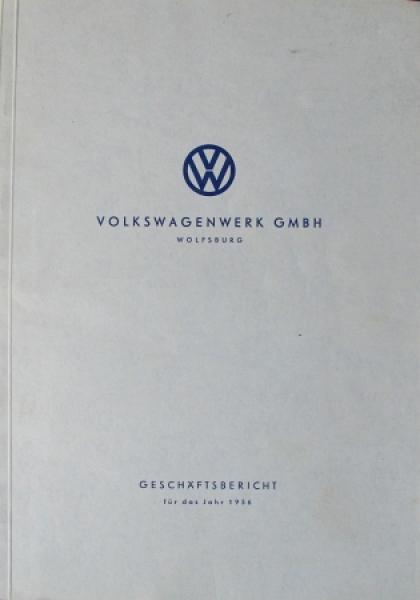 Volkswagen Geschäftsbericht 1956 VW-Werkschronik