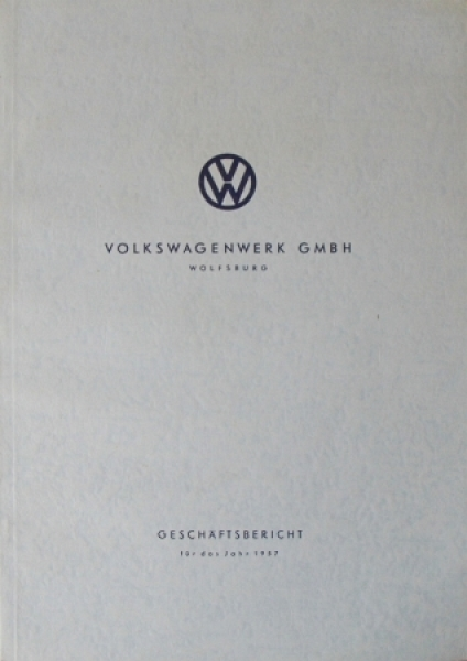Volkswagen Geschäftsbericht 1957 VW-Werkschronik
