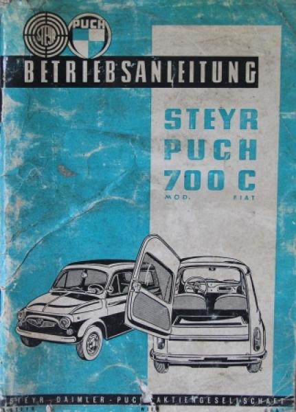 Steyr-Puch 700 C Kombi 1961 Betriebsanleitung