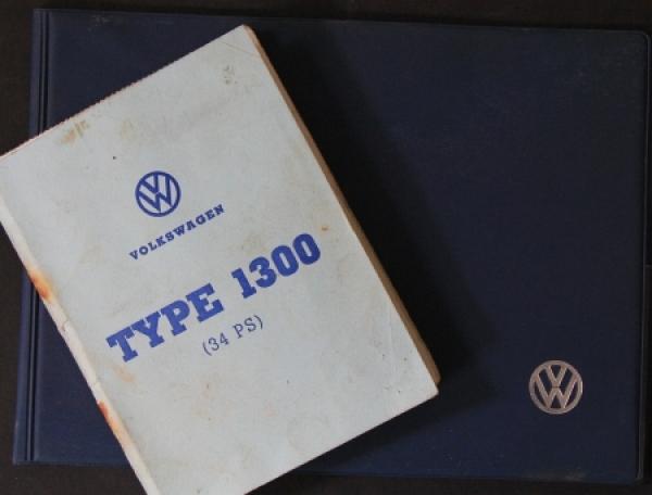 Volkswagen Käfer 1300 Typenschein 1970 in VW-Kunststoffmappe Betriebsanleitung