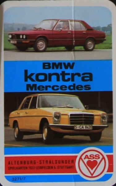 "Altenburger ""BMW kontra Mercedes"" Kartenspiel 1974"